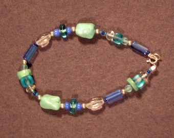 Sterling Silver Ocean Colors Bracelet