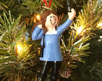 Selfie Girl Ornament