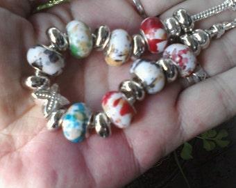 Speckled eggs, Euro style bracelet