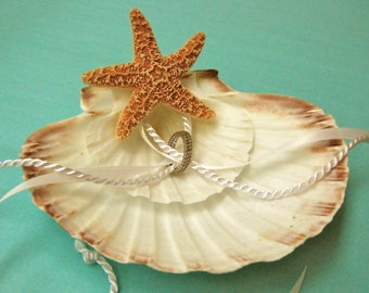 Beach Wedding Starfish Ring Bearer with Ribbons for Beach Weddings - 23 Ribbons available