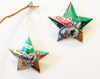 Chin Music, Beer Can Stars, Baseball Players, Pitcher, Center of the Universe Brewing, Ashland, VA,  Christmas Ornament Stars