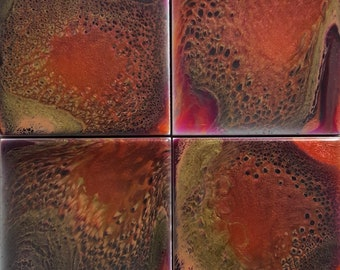 Resin Coasters set of 4 *FREE SHIPPING* in U.S.