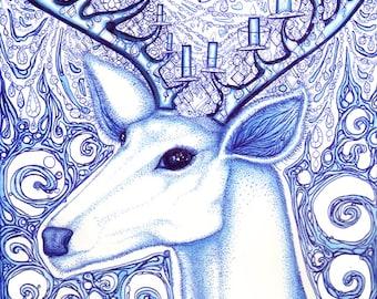 The Chandelier Deer - 8x10 archival giclee print
