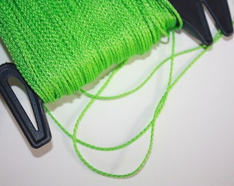 1.5 mm BRAIDED GREEN Cord = 1 Spool = 110 Yards = 100 Meters of Elegant Polypropylene Rope for Macrame Knitting Sewing Crocheting Thread