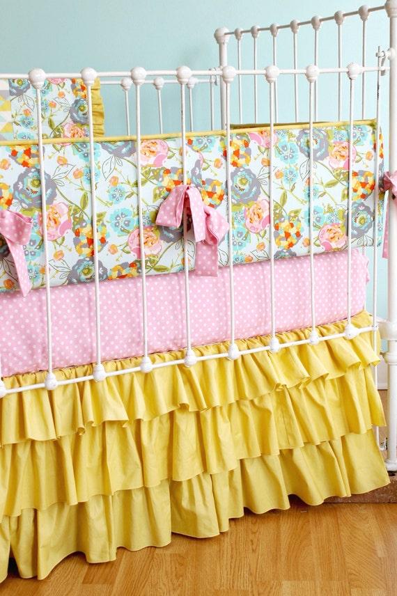 Crib Bedding Set Floral Fields