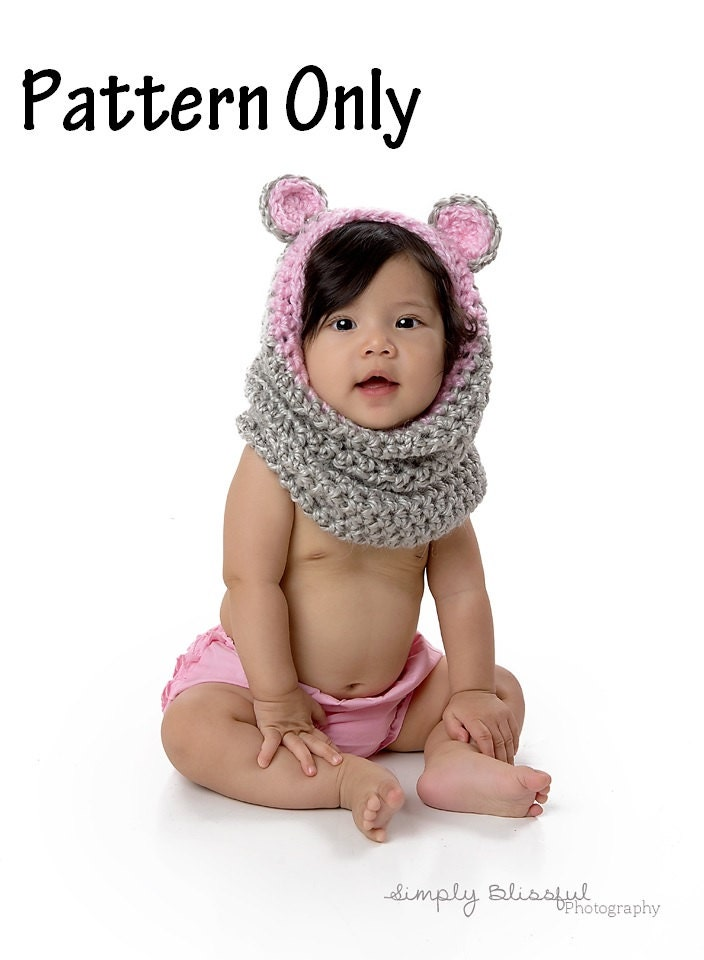 Attractive Bear Cowl Crochet Pattern Ideas Sewing Pattern Dress