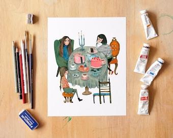 Tea Party - Fine Art Giclée Archival Print