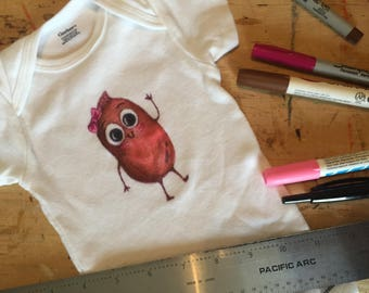 Frijole - Hand Illustrated Onesie