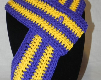 College Football Purple and Gold Cowl Neckwarmer