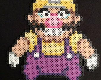 Mario Bros Wario perler bead art pixel sprite