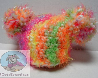 Pompom hat, Baby girl hat, Big pompom hat, baby beanie, newborn photo prop, crochet baby hat, chunky crochet  hat