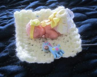 Polymer Clay OOAK Baby, Carlie