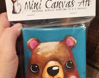 Mini Bear Canvas Beautifully packaged - Baby Bear
