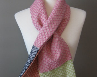 Lay Down Sally Handmade Color Block Keyhole Scarf SALE was 49 USD