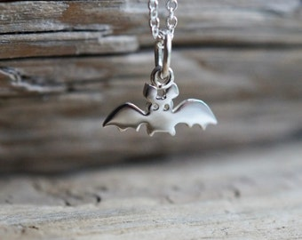 """Cute Bat Sterling silver Pendant Necklace from the """"Petite Ménagerie"""" collection by Camille Grenon"""