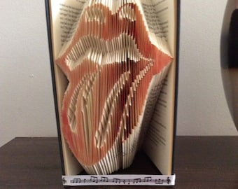 Folded book art PATTERN instant pdf download
