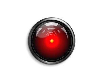 Hal 9000  1065 - pinback button or magnet 1.5 Inch