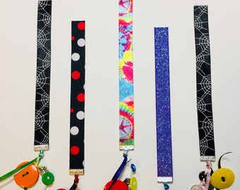 Ribbon and Button Bookmark