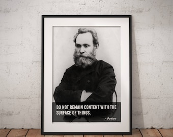 Pavlov, Quote poster, Typographic print, Inpirational Genius Quote, Sizes A4-A0