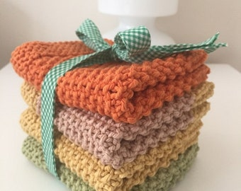 Dish or Wash Cloths (4/Pack)-100% Cotton