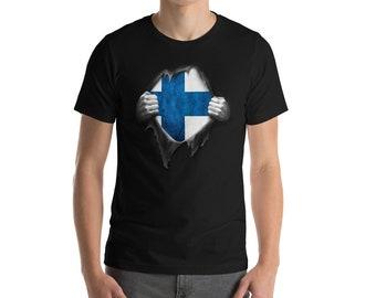 Finnish Flag Shirt, Finnish T Shirt, Finland Tee, Finland National Flag, Football Shirt, Soccer Shirt, DNA, Heritage gift, Pride, Roots