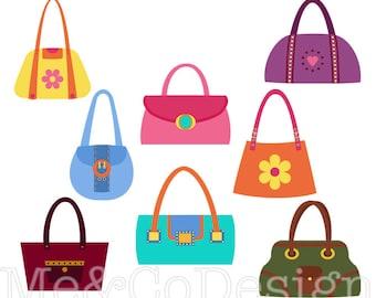 handbag clipart etsy rh etsy com purse clip art images free purse clipart