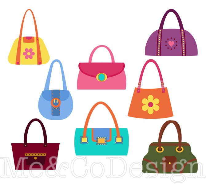 handbag clipart fun pretty clipart retro accessory clipart rh etsy com purpose clipart purse clip art free images