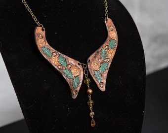 Oaken Gears Leather Necklace