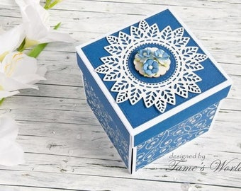 Personalized Birthday Gift Card / Personalized Birthday Explosion Box / Birthday Exploding Box / Birthday 3D Box / Birthday Card Box