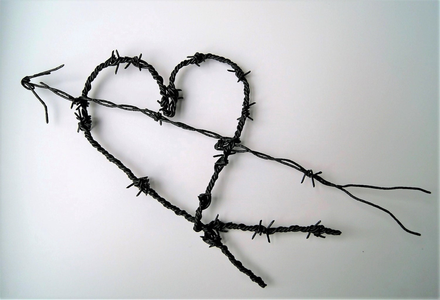 Barbed Wire Heart Vintage Barbed Wire Heart Valentine