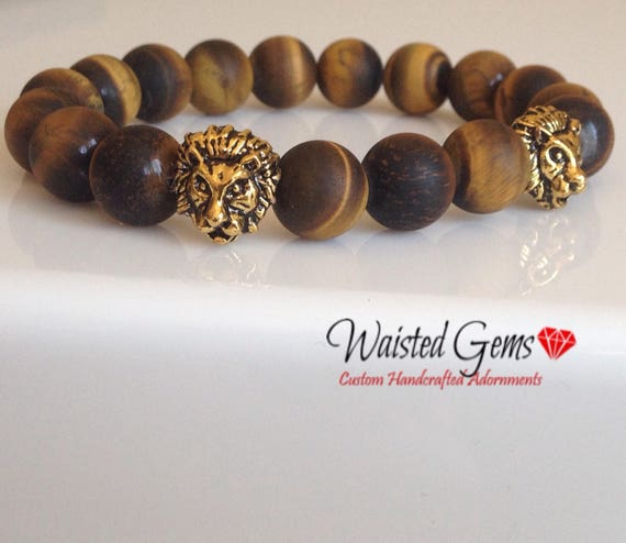 Men 10mm Matte Yellow Tigers Eye Bracelet,  Men Bracelet, Birthday Gift, Fathers Day Gift, Gift Idea,  zmw1198.9
