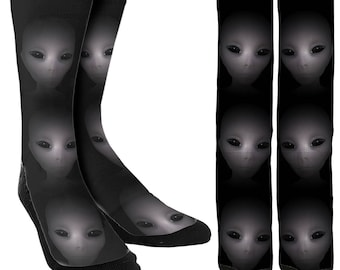 Alien Socks Vol.1 - Crew Socks - Funny Socks - Crazy Socks - Novelty Socks - Unique Socks - Cute Socks - Clothing - FREE Shipping B25
