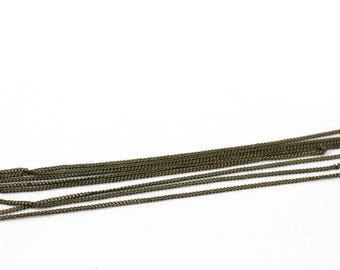 1 m chain link bracelet very fine bronze