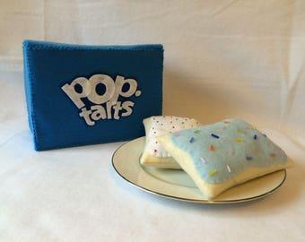Felt Toaster Pastries with Box, Set of 6, Felt Food, Play Food, Pop-Tarts, Breakfast