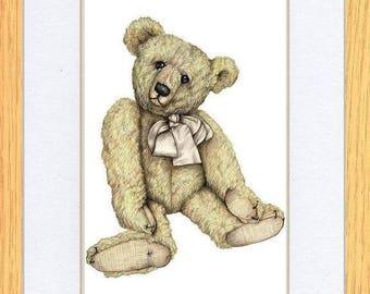 Dapper Chap Bear Picture Oak Framed Print Wall Art By Kevin Wood 2 Sizes Uk Artist