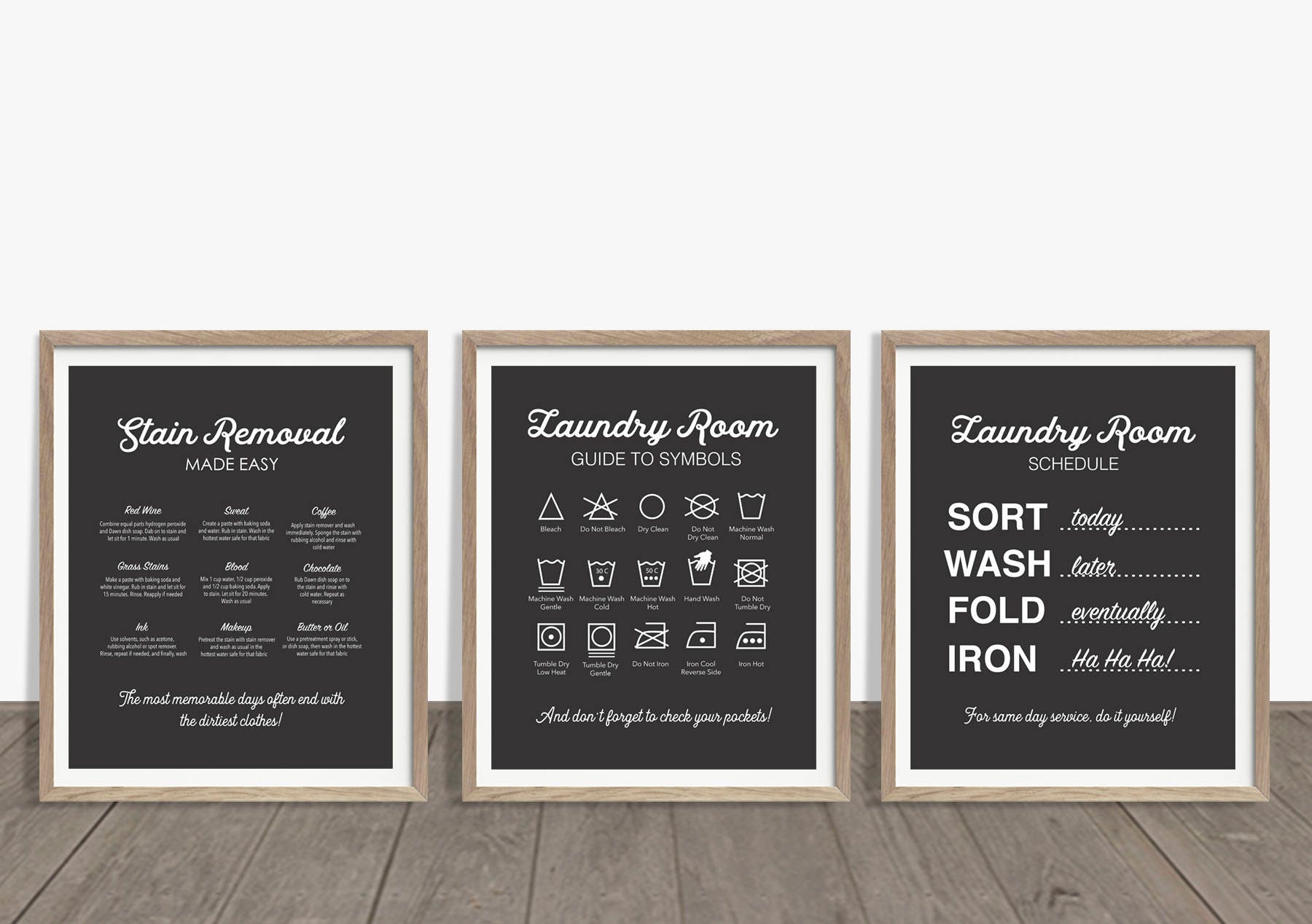 Laundry Symbols Art Laundry Room Art Laundry Prints Laundry Rules Print Laundry