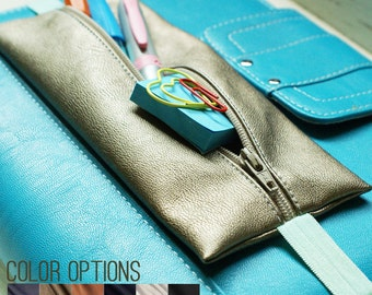 Planner pouch  | Bible journaling pouch | choice of faux leather