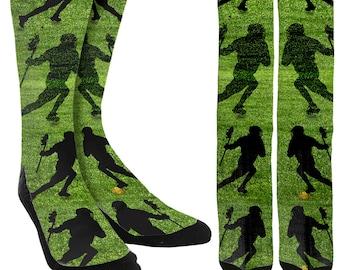 Lacrosse Crew Socks - Lacrosse Socks - Boys Lacrosse Socks - Girls Lacrosse Socks - Lacrosse Clothing - 100% Comfort - FREE Shipping C98