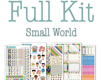 It's a Small World Collection - Disney Planner Stickers