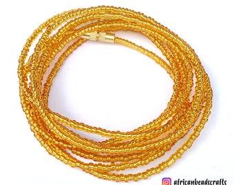 Gold Waist Beads - Belly Chain - Belly Beads - African Waist Beads - African jewelry
