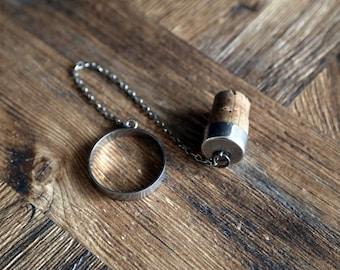 Vintage silver bottle cork stopper