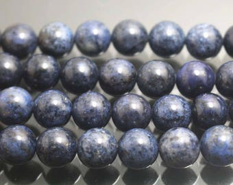 Dumortierite Smooth and Round Beads,4mm 6mm 8mm 10mm 12mm Dumortierite Beads,15 inches per strand