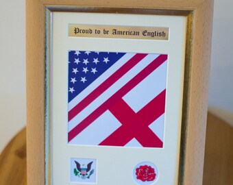 Proud to be American English Frame - England, Family, heritage, ancestors, history, gift