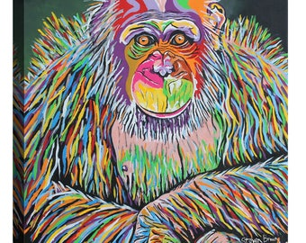"Giclee Canvas Wall Art ""Boris McZoo"" by Steven Brown"