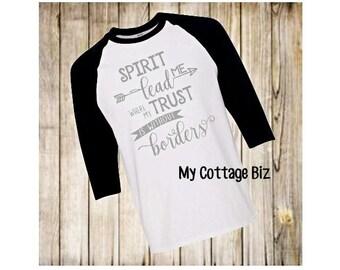 Spirit Lead Me Raglan Tshirt