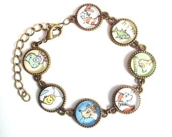 Dr Zeus Cat in the Hat bracelet