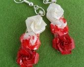 Alice in Wonderland, Alice earrings, Alice jewellery, Wonderland, Wonderland jewelry, painting the roses red, paper jewelry, paper earrings,