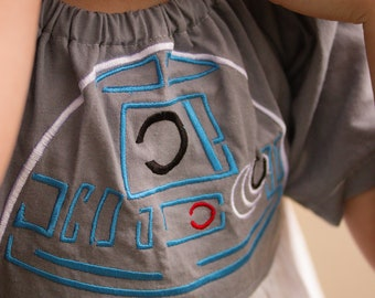 R2D2 Star Wars Dress- Star Wars Dress- Darth Vader- May the fourth- Star Wars Costume- Cosplay- Girls Star Wars- Birthday Theme- Toddler