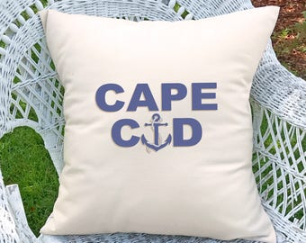 Customized Cape Cod with anchor pillow (INCLUDES PILLOW INSERT)