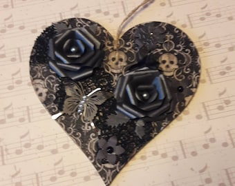 Gothic style decorated heart